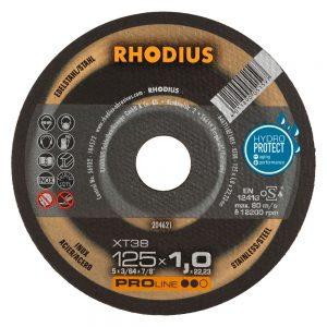 rhodius xt38 extra-thin 125x1x22.23 diskos kopis inox